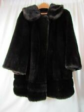 Vintage Faux Fur Brown Black Approx Sz Medium Please See Measurements