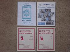 """LOT OF 4 -- PITTSBURGH, PA FOLK FESTIVAL PROGRAMS / SCHEDULES -- """"COLLECTIBLE"""""""