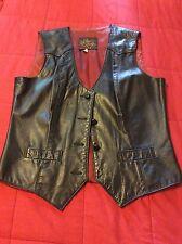 Cal Bros Leathers Bike Vest Cowboy El Paso Texas USA made Size13/14 70/80's