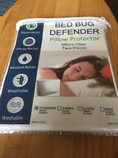 2 Pack Soft Bed Bug Dust Mite Hypoallergenic covers Zipper Pillow Protector Std