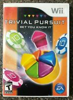 Trivial Pursuit Bet You Know It - Nintendo Wii - Family Kids Fun Tested Working