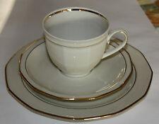 Winterling Schwarzenbach Coperto Per Il Caffè 3 Pezzi Crema/oro Porcellana,