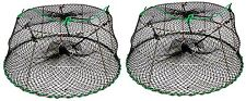 """2-Pack of KUFA Sports Tower Style Stainless Steel Prawn trap (Trap Size: Ø30""""xØ2"""