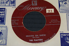 The Platters DOO WOP45-Mercury MAROON LABEL 70893-My Prayer/Heaven on Earth OOP
