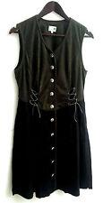 Damen Trachten Kleid ärmellos grün, Rock schwarz Gr. 42 v. Folk Line