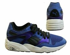 Puma Trinomic Blaze Knit Blue Lace Up Casual Shoes Mens Trainers 359996 02 X3B
