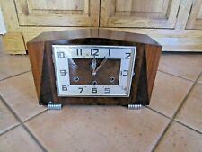 Antique Striking Art Deco 1930's Timber Mantle Shelf Clock WESTMINSTER CHIMES