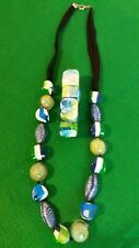 Chunky Acrylic Necklace and Matching Bracelet