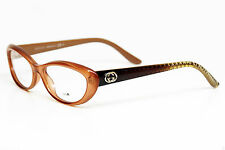 NEW AUTHENTIC GUCCI GG 3566 WD1 Peach Antrsil Oval Caramel 52mm 16 140  ITALY
