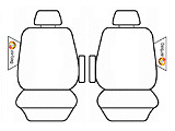 Tailor Made Seat Covers in Charcoal for Toyota Tarago Wagon from 03/2006 - on