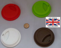 Washable Travel Cup Silicone Lid.Choice of 4 colours-UK STOCK-FREE P&P