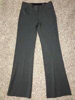 Express Editor Pants Sz 6 Long Inseam 35 Womens Gray Flare Wide Waistband NWT
