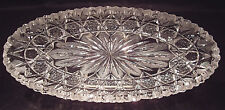 American Brilliant Period ABP cut glass oval celery dish Great cond. Libbey?