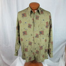 * Georg Roth Of Germany * Button Up Down Shirt Abstract Art Mod Rare 39/40 L