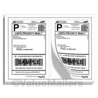 Labels 400 Adhesive Blank Shipping Labels 2 Per Sheet 8.5 X 5.5 Premium Quality