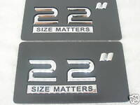 22 Inch Wheel Rim Size Badges (pair)