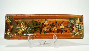 """Rare Vintage FF Griffi Cassis Corsica Terracotta Handpainted 11"""" Vanity Tray"""