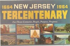 1964 NEW JERSEY 300 Year Anniversary TERCENTENARY Ad Postcard Printed New York