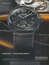 ▬► PUBLICITE ADVERTISING AD Montre watch PANERAI Radiomir 8 days ceramica
