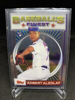 2020 Topps Baseball Finest Flashback Adbert Alzolay RC #80 Chicago Cubs