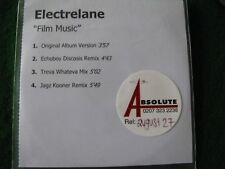 ELECTRELANE.. Film Music  (4 Track CDR Promo Single)