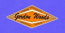 "Sticker / Decal ""GORDON WOODS CUSTOM SURFBOARDS"" SURFING 1960's Retro Woody !!"