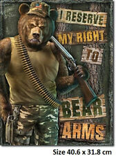 Right To Bear ArmsTin Sign 2023  Made in USA