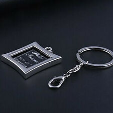 HJ Diamond-shaped Picture Frame Keyring Bag Keychain Alloy Fashion Jewelry Gift