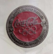 Coca-Cola 2004 Worldwide Olympic Partner Pin Athens Red Round NIP NEW