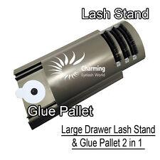 U-Curved Tile Large Lash Stand and  Glue Pallet Drawer for Eyelash Extension