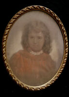 HENRY WHATLEY FINE VICTORIAN PASTEL PORTRAIT OF A GIRL ORIGINAL FRAME c.1875