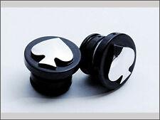Custom Spade Oil Plug Harley Davidson with Horseshoe or Round Oil Bag