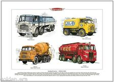 LEYLAND camion années 50 & 60-FINE ART PRINT A3 TAILLE-Retriever Albion Octopus