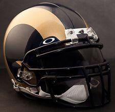 ***CUSTOM*** ST. LOUIS RAMS NFL Riddell Deluxe REPLICA Football Helmet