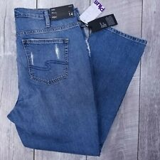 Silver Jeans Frisco Womens Plus 14 36x28 Distressed High Rise Straight J213