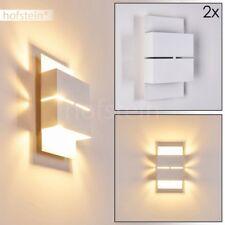 2er Set LED Aussen Wand Lampen Design weiß Veranda Hof Terrassen Leuchten UpDown