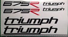 TRIUMPH Daytona 675 R calcomanías/Hoja Pegatina Kit Pista/Bicicleta De Carrera TRACKDAY