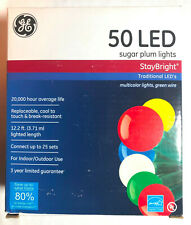 NEW - GE 50 LED Sugar Plum Pearl Color String Lights (Staybright)