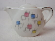MCM Space Age Toy Tea Set Ceramic Atomic Hand Painted Design Japan Retro Teapot