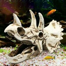 Reptile Vivarium Landscaping Skull Aquarium Artificial Ornament Fish Tank Decor