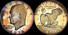 1978-S EISENHOWER DOLLAR BU PR GOLD/BLUE/PURPLE TONED