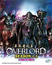OVERLORD Season 1+2+3 Complete Anime Series (1-39 + OVA) English Audio (DVD)