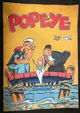 Vintage 1936 Popeye King Features #944 Comic Book Color Art