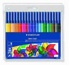 Staedtler Noris Club ® 326wp20 Fibra Punta 20 Plumas wallet/1mm/adult Libros Para Colorear