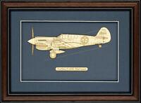 Curtiss P-40E Warhawk - Wood Art
