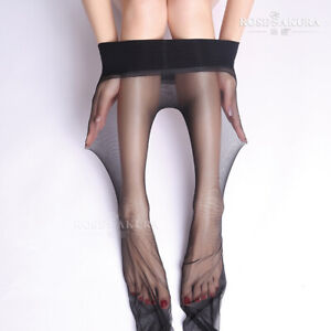 Ultra Sheer Seamless Pantyhose Glossy Reinforced Panty Tights Stockings