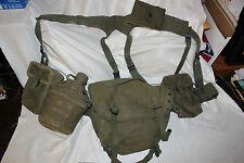 US Military Issue Vietnam Era Web Belt Set Belt Suspenders Buttpack Lot SIZE XL