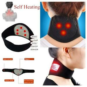 NEW Heating Neck Heat Therapy Support Belt Tourmaline  Magnetic  Wrap Brace Pain