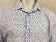ENGLISH LAUNDRY Long Sleeve Shirt sz 2XL XXL Baby Blue Diamonds Casual