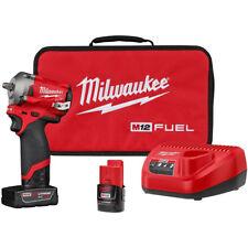 """Milwaukee 2554-22 M12 FUEL Stubby Cordless 3/8"""" Drive Impact Gun Wrench Kit"""